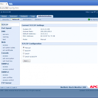 Сравнение систем мониторинга Vutlan SC8100 и APC NetBotz Rack Monitor 200 - 36