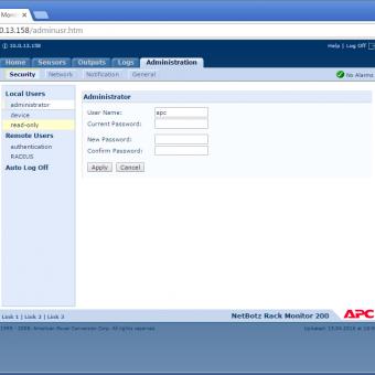 Сравнение систем мониторинга Vutlan SC8100 и APC NetBotz Rack Monitor 200 - 39