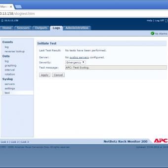 Сравнение систем мониторинга Vutlan SC8100 и APC NetBotz Rack Monitor 200 - 40