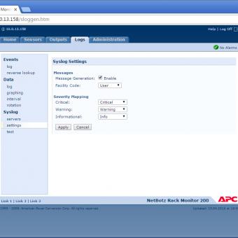 Сравнение систем мониторинга Vutlan SC8100 и APC NetBotz Rack Monitor 200 - 41