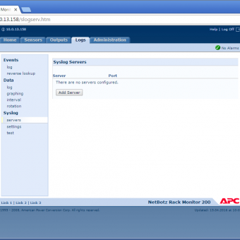 Сравнение систем мониторинга Vutlan SC8100 и APC NetBotz Rack Monitor 200 - 42