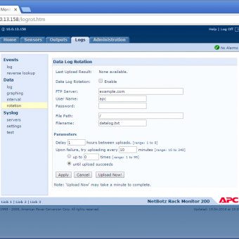 Сравнение систем мониторинга Vutlan SC8100 и APC NetBotz Rack Monitor 200 - 43