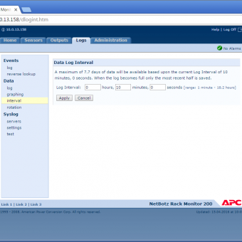 Сравнение систем мониторинга Vutlan SC8100 и APC NetBotz Rack Monitor 200 - 44