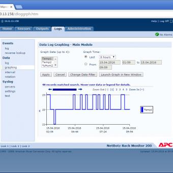 Сравнение систем мониторинга Vutlan SC8100 и APC NetBotz Rack Monitor 200 - 45