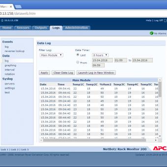 Сравнение систем мониторинга Vutlan SC8100 и APC NetBotz Rack Monitor 200 - 46
