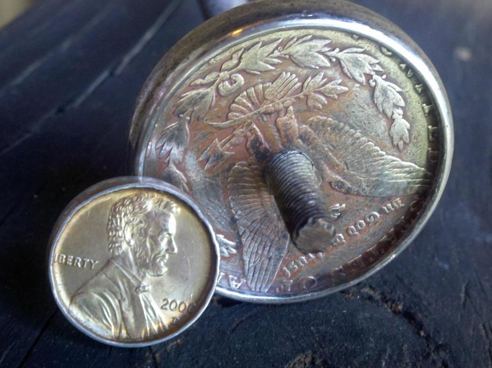 Делаем кольцо из обычной монеты - 2