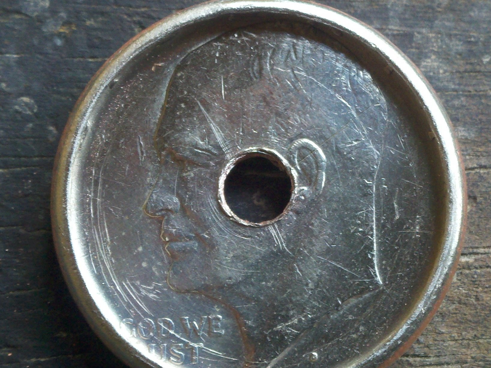 Делаем кольцо из обычной монеты - 4
