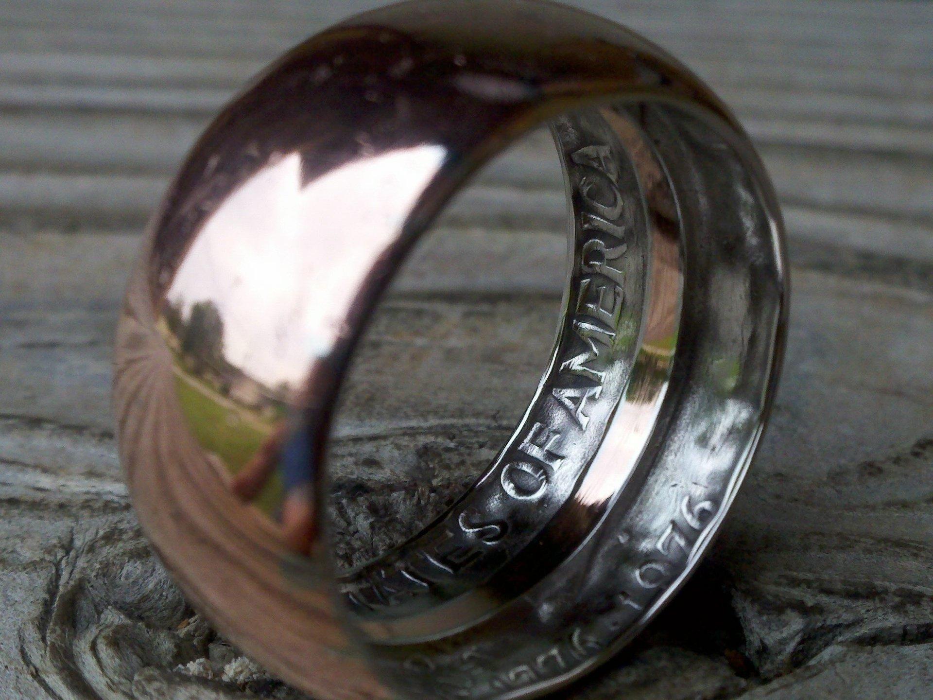 Делаем кольцо из обычной монеты - 6