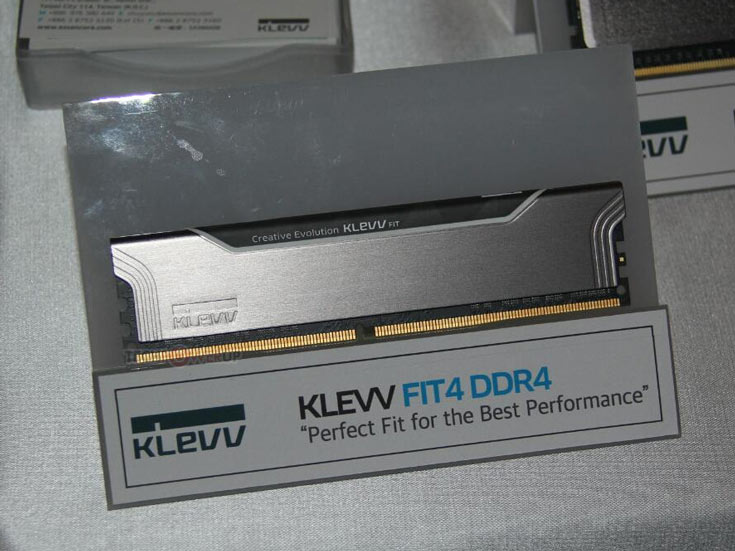 Внешне новые модули очень похожи на модули Klevv Fit (DDR3)
