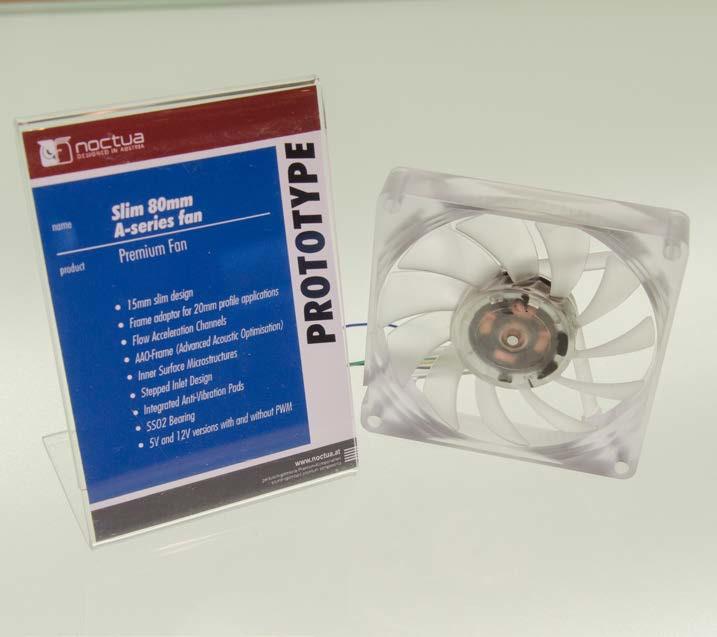 Роторы тонких вентиляторов Noctua A подвешены на двойных шарикоподшипниках