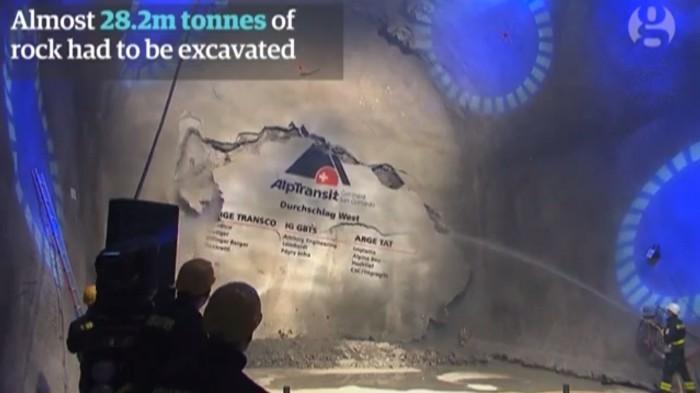 В Швейцарии открыт самый длинный в мире железнодорожный тоннель: 57 км - 10