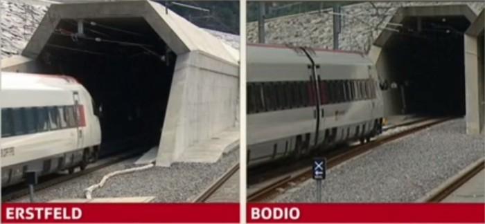 В Швейцарии открыт самый длинный в мире железнодорожный тоннель: 57 км - 6