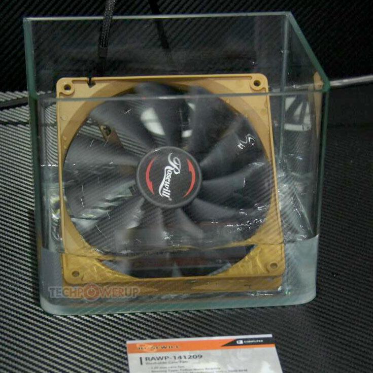 Вентилятор Rosewill RAWP-141209 типоразмера 120 мм поддерживает управление скоростью с помощью ШИМ