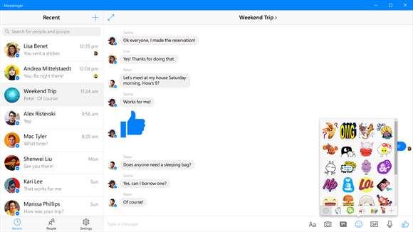 Бета-версия Facebook Messenger доступна пользователям Windows 10 Mobile