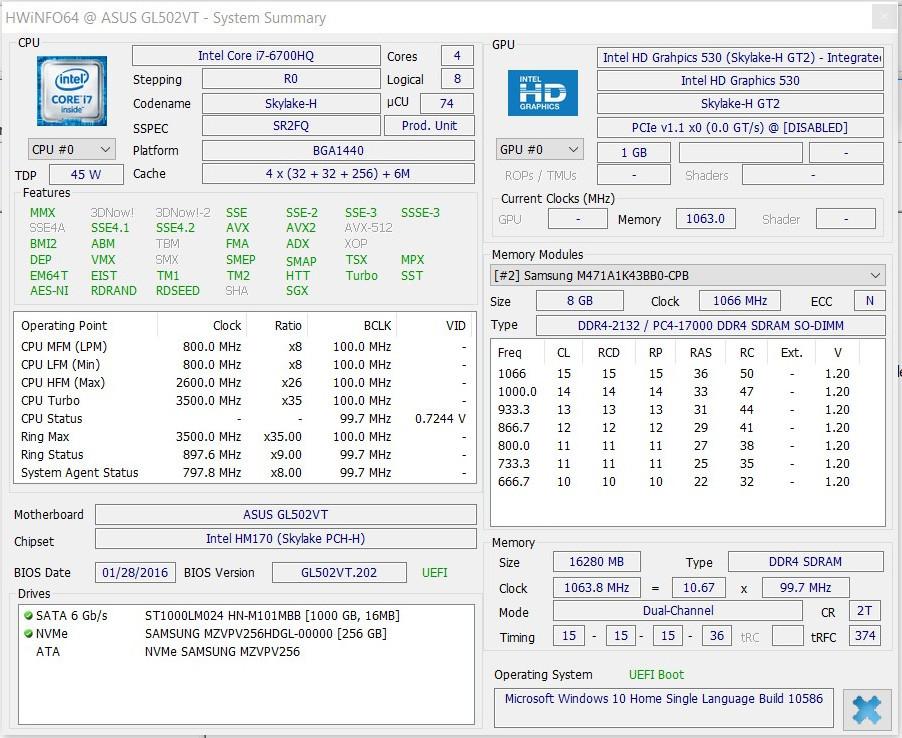 Обзор игрового ноутбука ASUS GL502VT - 30