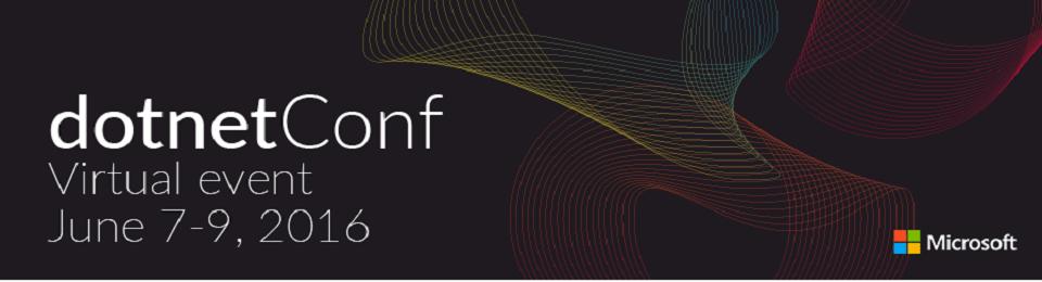 Участвуйте 7-9 июня в бесплатной виртуальной конференции dotnetConf 2016 - 1
