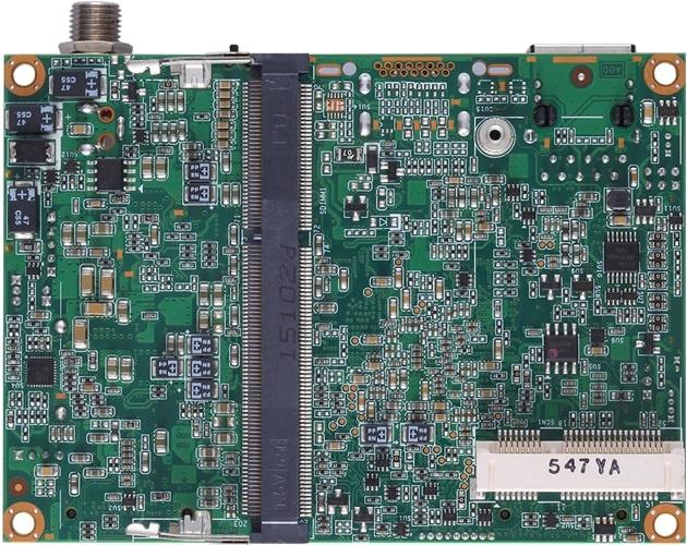Габариты платы Axiomtek Pico300 составляют всего 100 х 72 мм
