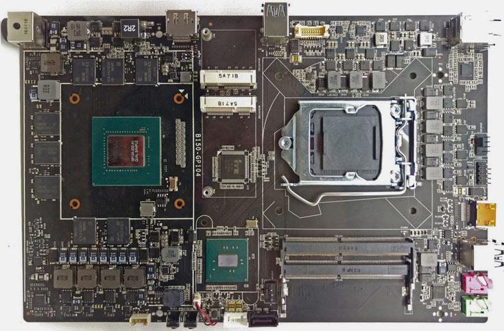 На плате Colorful B150-GP104 есть два слота mini-PCIe и два слота для модулей SO-DIMM