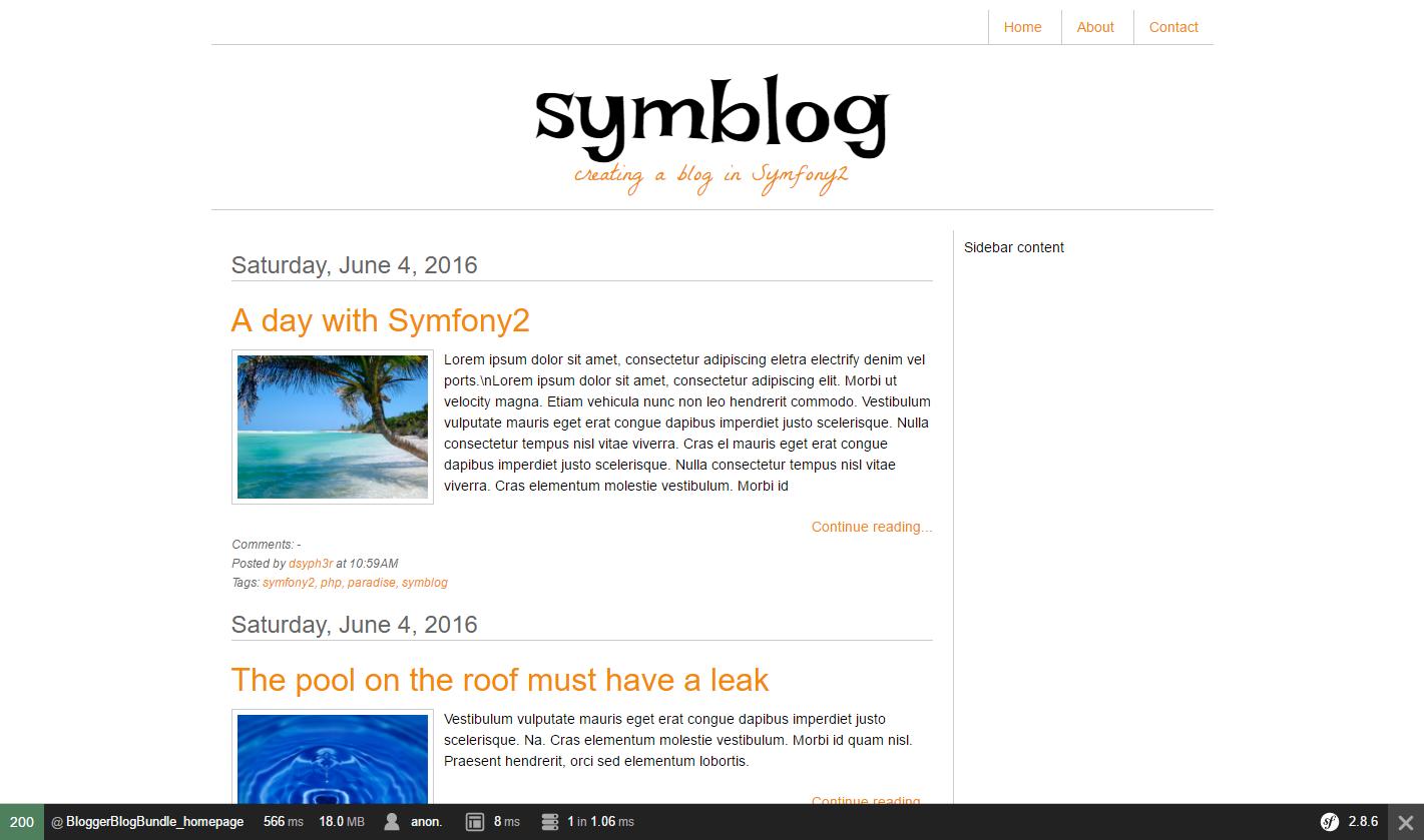 Создание блога на Symfony 2.8 lts [ Часть 4] - 2