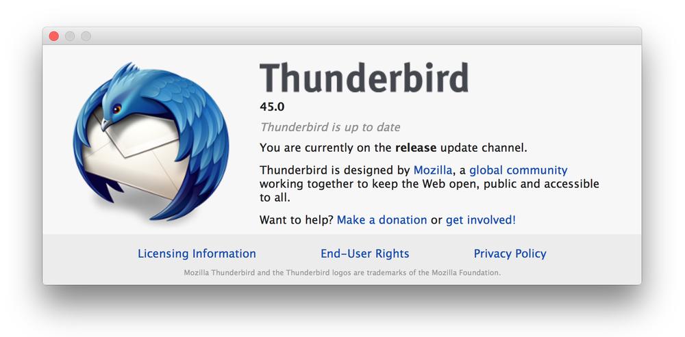 OAuth-авторизация в Mozilla Thunderbird: от зарождения до релиза - 2