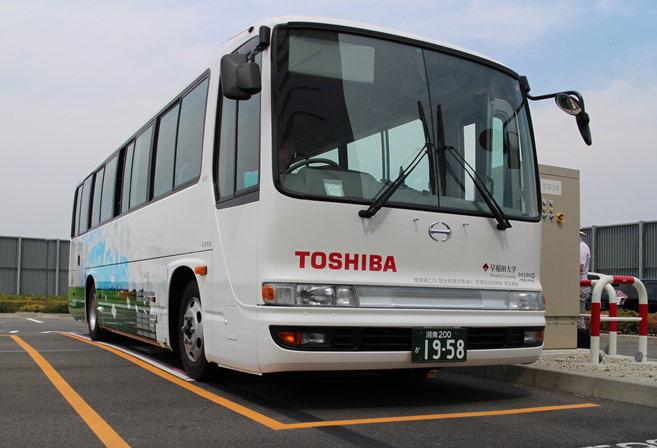 В электробусах Toshiba используются литий-ионные аккумуляторы SCiB