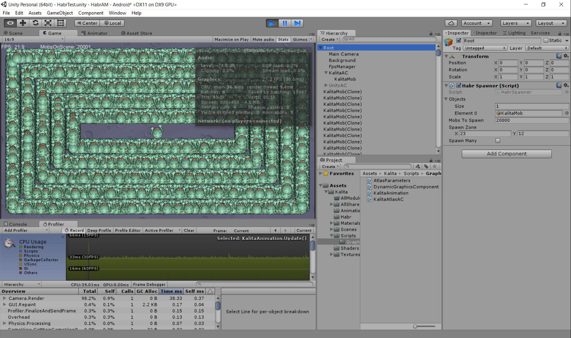 Unity3D Ускорить отрисовку 2D анимации в разы? Легко - 5