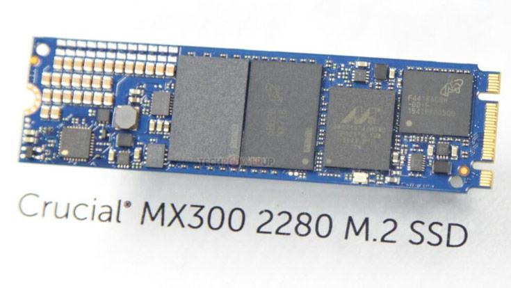 В SSD Crucial MX300 используется флэш-память типа TLC NAND