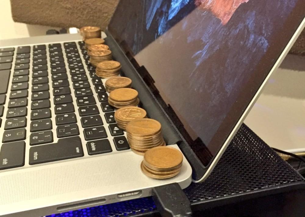 Японские извращения. Медные монеты эффективно охлаждают ноутбук - 1