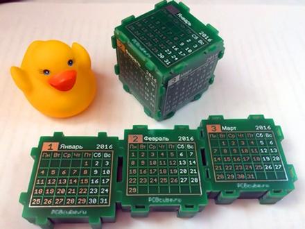 PCB Cube — настольный календарь или абсолютно нежизнеспособная идея - 13
