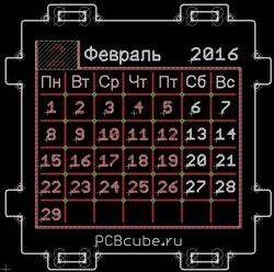 PCB Cube — настольный календарь или абсолютно нежизнеспособная идея - 6