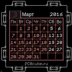 PCB Cube — настольный календарь или абсолютно нежизнеспособная идея - 7