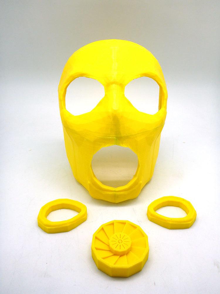 Изготовление основы для маски Psycho из Borderlands 2 на 3D-принтере – клеим PLA дихлорэтаном - 16