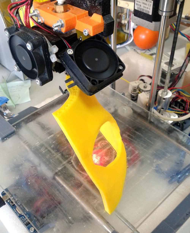 Изготовление основы для маски Psycho из Borderlands 2 на 3D-принтере – клеим PLA дихлорэтаном - 2