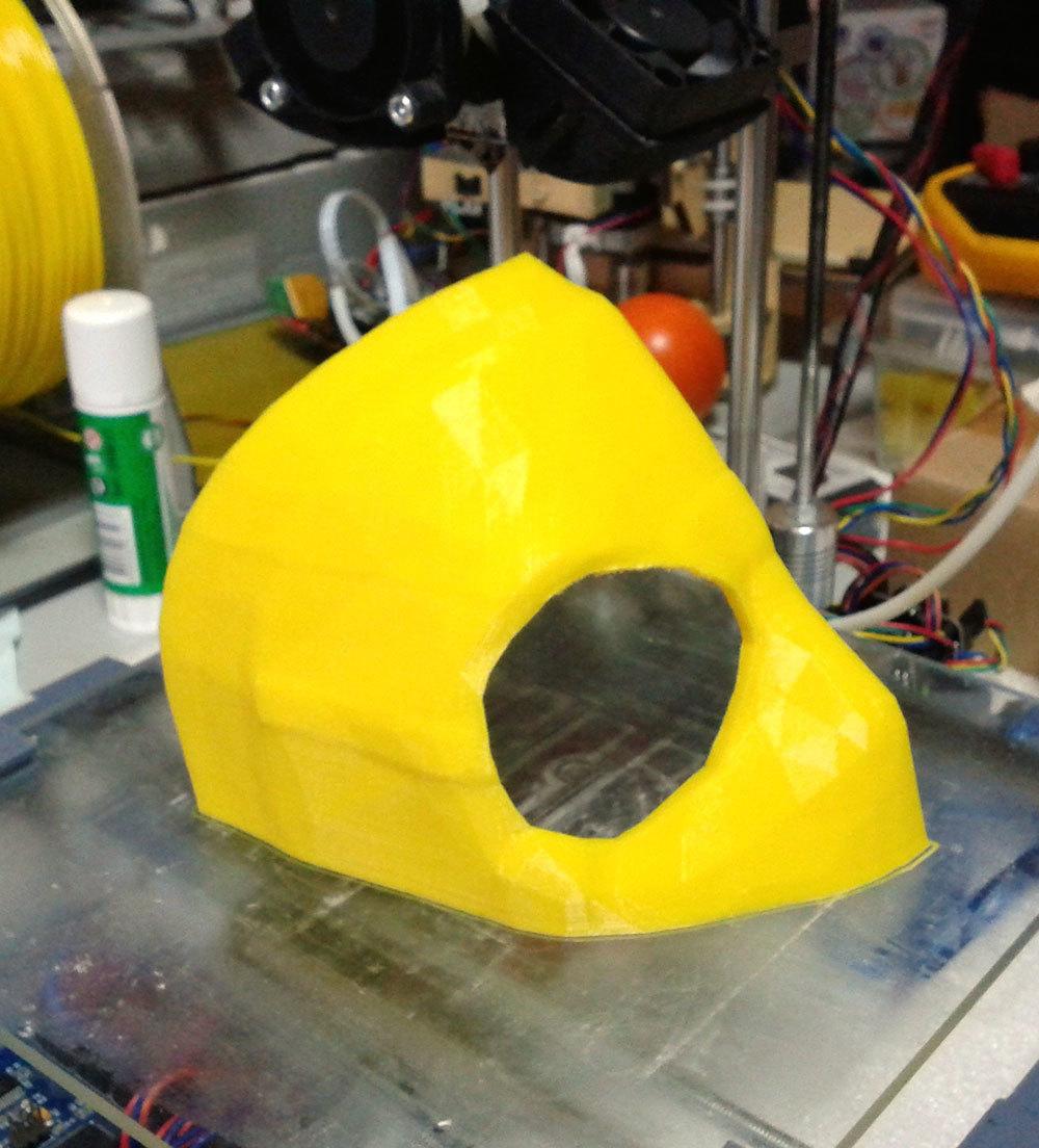 Изготовление основы для маски Psycho из Borderlands 2 на 3D-принтере – клеим PLA дихлорэтаном - 3