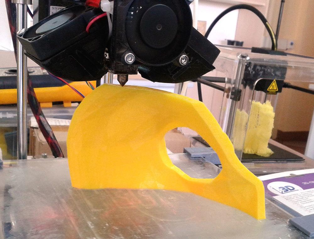 Изготовление основы для маски Psycho из Borderlands 2 на 3D-принтере – клеим PLA дихлорэтаном - 4