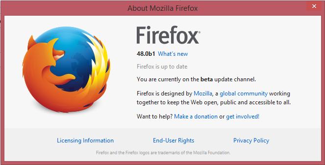 Веб-браузер Mozilla Firefox 48 beta получил возможность разделения процессов - 2