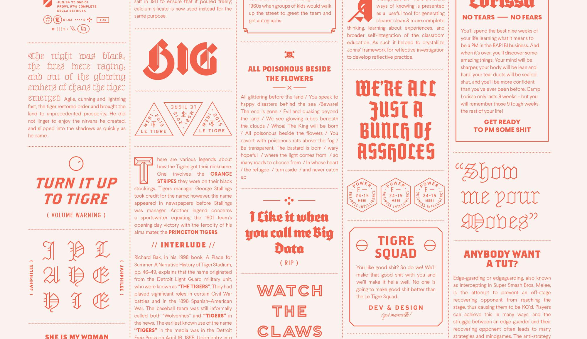 Ценность многошрифтового дизайна - 1
