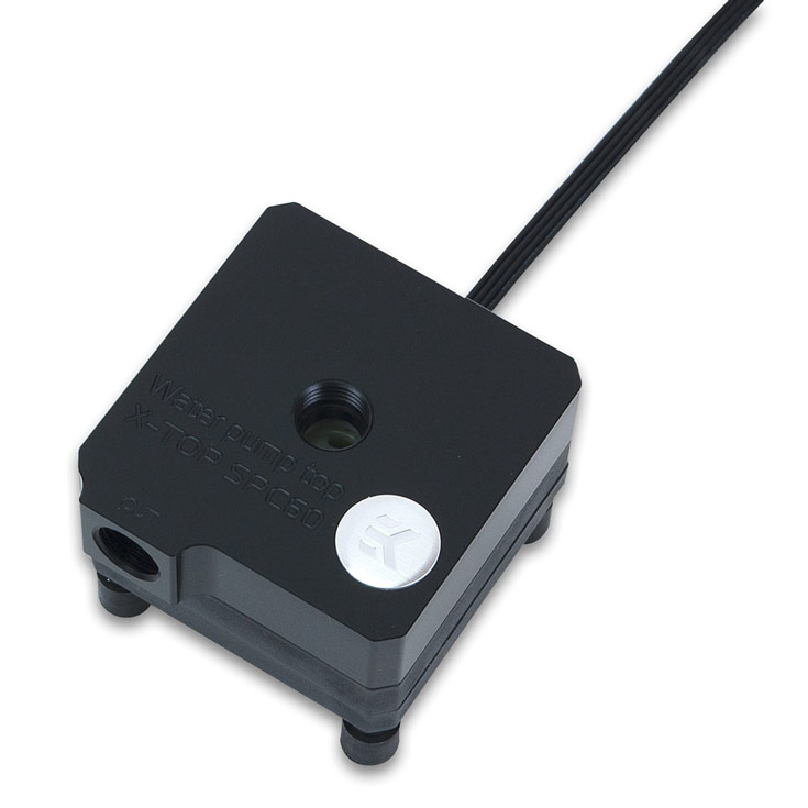 Помпа EK Water Blocks EK-XTOP SPC-60 PWM предложена в двух вариантах, различающихся материалом крышки
