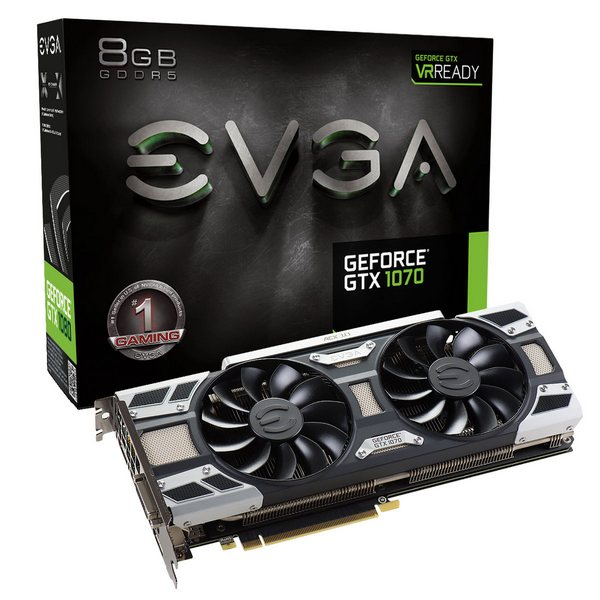 Все видеокарты EVGA GeForce GTX 1070 получили СО ACX 3.0