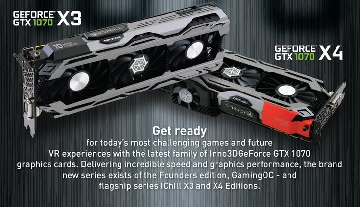 Видеокарта Inno3D iChill GeForce GTX 1070 X4 получила новую СО