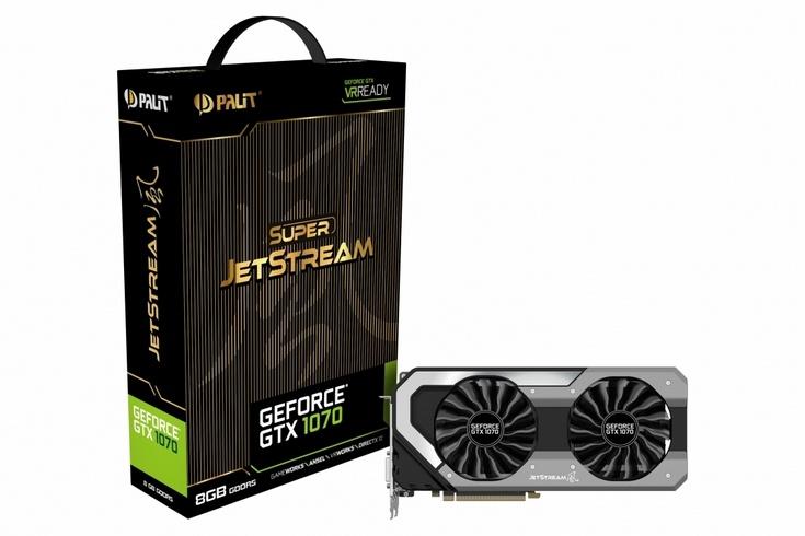 Palit представила пять видеокарт GeForce GTX 1070