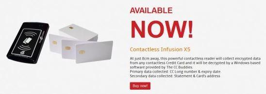Contactless Infusion X5: девайс, способный удаленно копировать данные 15 банковских карт в секунду - 1