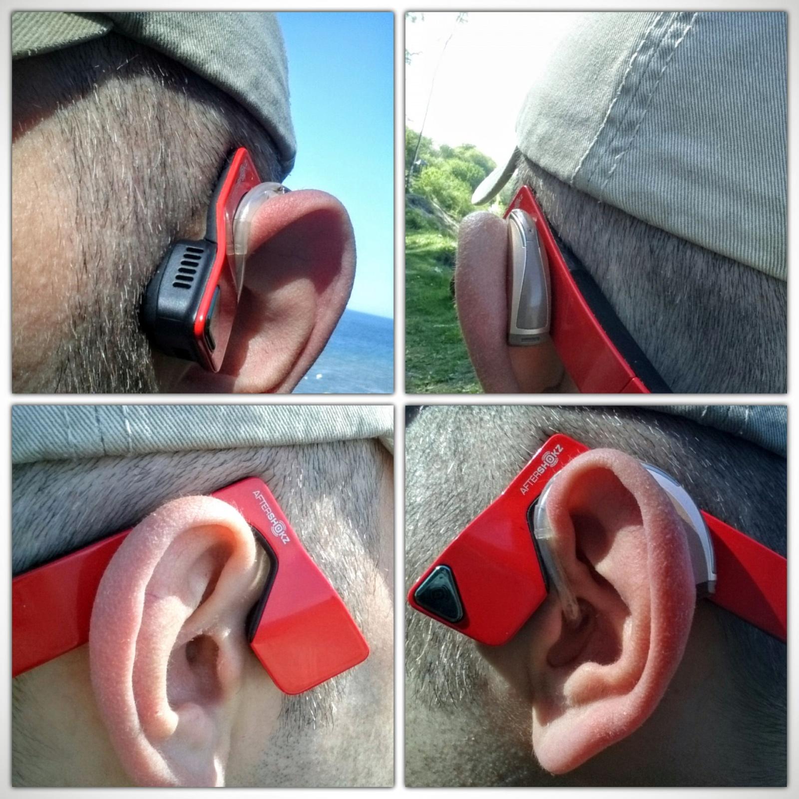 Aftershokz bluez 2 с заушным слуховым аппаратом