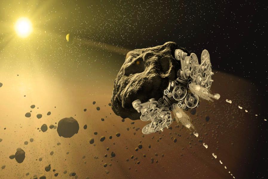 Космический корабль из астероида - 2