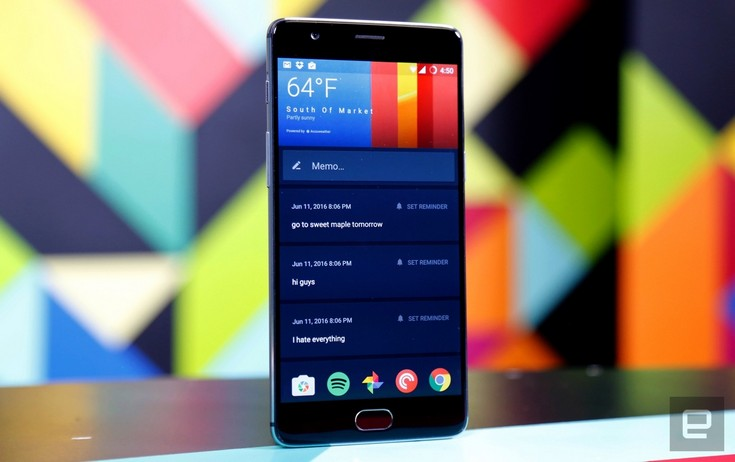 Смартфон OnePlus 3 получил SoC Snapdragon 820 и экран AMOLED