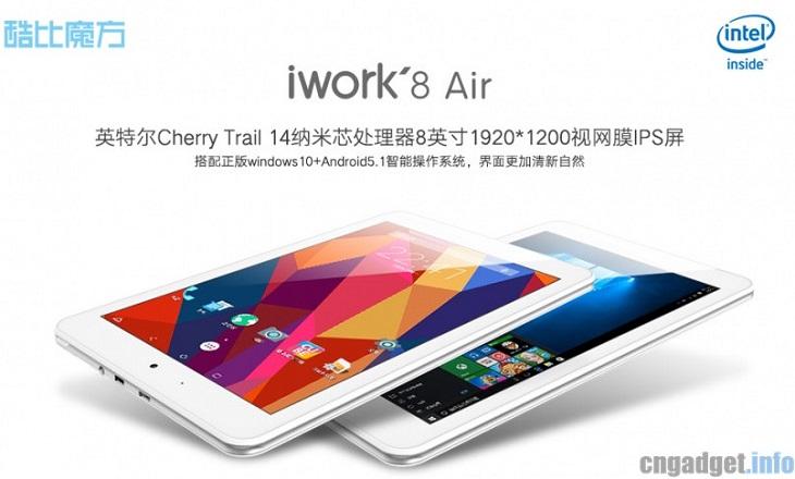 Планшет Cube iWork 8 Air работает с двумя ОС: Windows 10 и Android 5.1