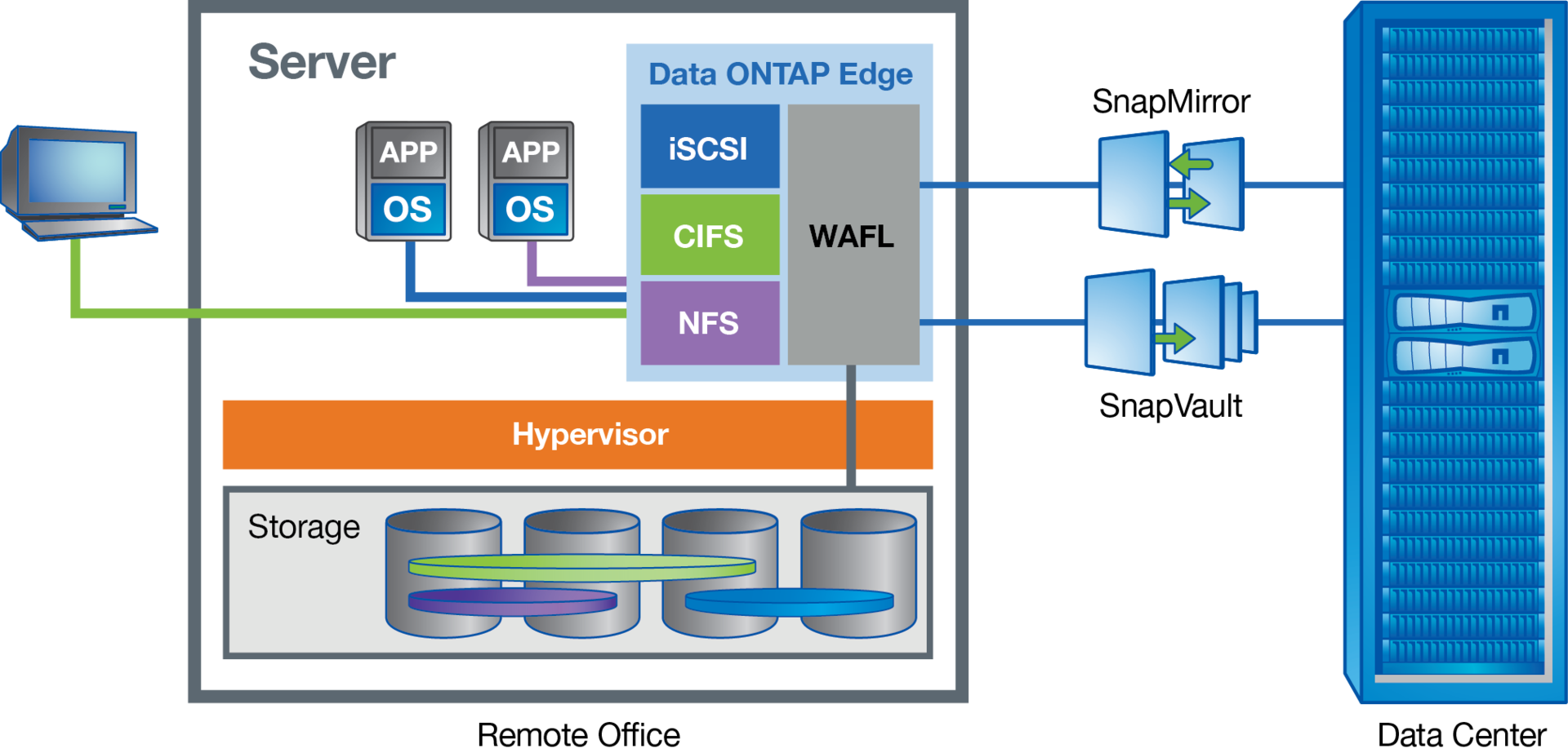 NetApp virtual storage appliance: Data ONTAP-v - 2