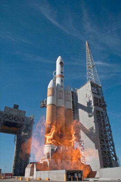 Ракета в огне. Delta-IV Heavy — FireBall - 1