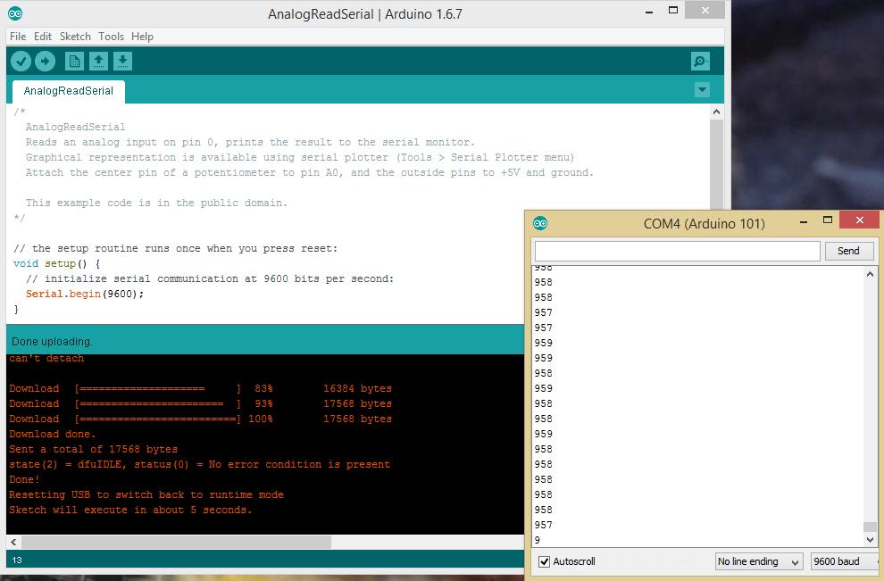 Эксперименты с Arduino 101 - 10