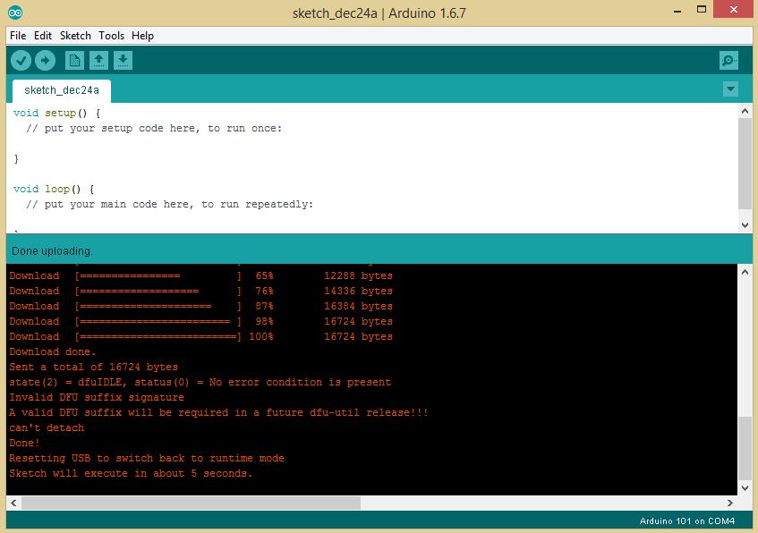 Эксперименты с Arduino 101 - 7
